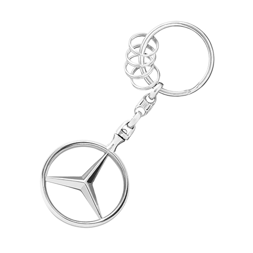 Mercedes Benz Brussels Key Ring w/ 4 Split Rings